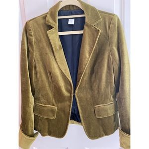 J Crew Ecole velvet olive blazer, size 8